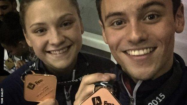 Tom Daley and Alicia Blagg