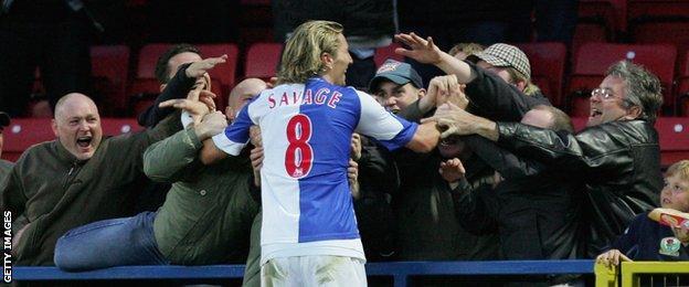 Robbie Savage and Blackburn fans