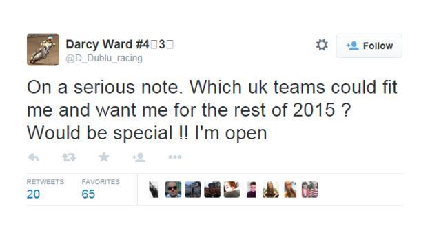 Darcy Ward on Twitter