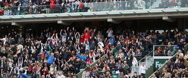 The crowd at the French Open