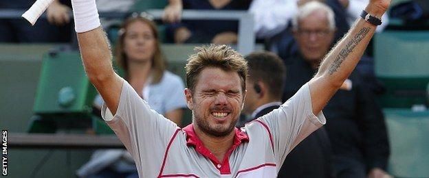 Stan Wawrinka finally got the better of Roger Federer at a major on his fifth attempt