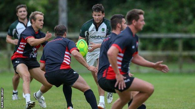 Guernsey and Cornish Pirates train together