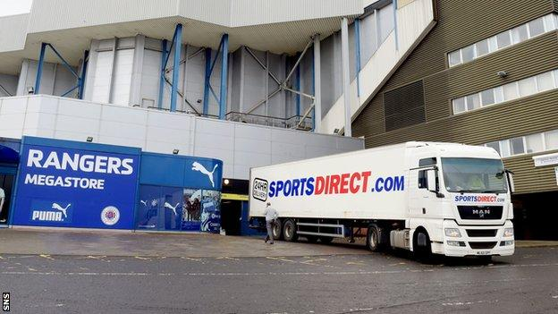 Mike Ashley seized a 75% share of Rangers' retail income