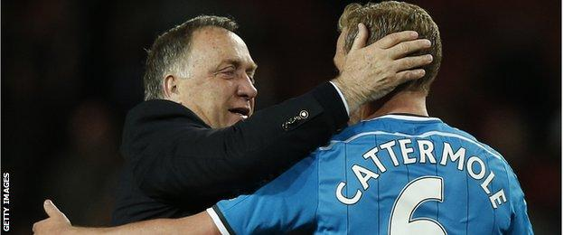 Dick Advocaat with Lee Cattermole