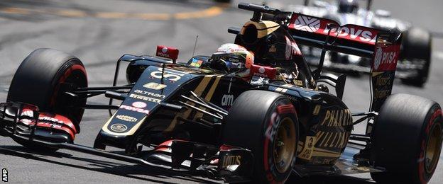Romain Grosjean at the Monaco Grand Prix
