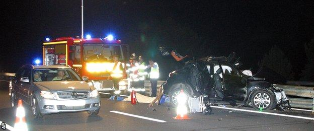 Jerry Collins was killed in a car crash in France