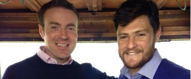 BBC NI's Thomas Niblock with Down All Star Martin Clarke