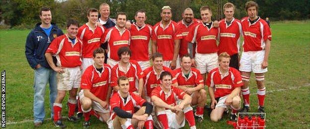 Collins turned out for Barnstaple's second XV side during a holiday in Devon