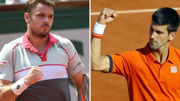 Stan Wawrinka and Novak Djokovic