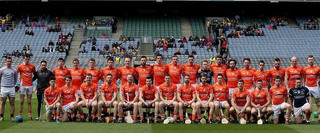 The Armagh panel who met Roscommon in the Nicky Rackard Cup final at Croke Park