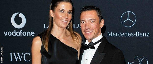 Frankie Dettori and wife Catherine