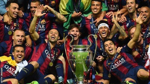 Juventus 1 3 Barcelona Bbc Sport