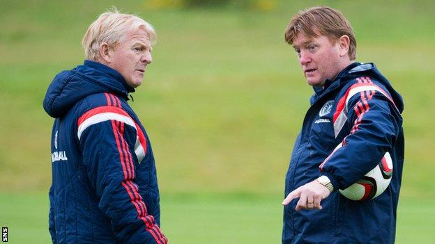 Stuart McCall (right) took charge of Rangers in March
