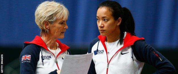 Judy Murray and Anne Keothavong