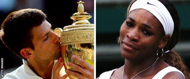 Novak Djokovic and Serena Williams