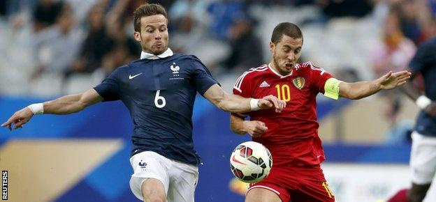 Chelsea playmaker Eden Hazard is the creative hub for Belgium and a potent goal-scorer