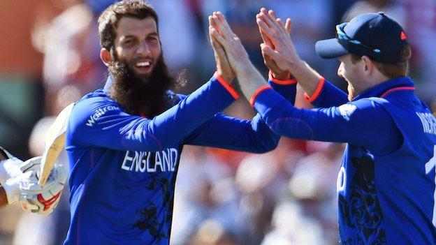 Moeen Ali was in England's Cricket World Cup team down under
