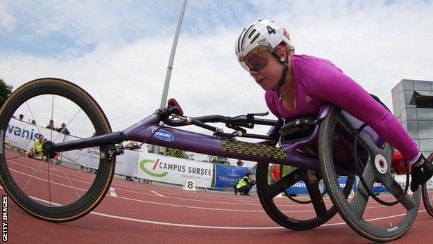 GB wheelchair racer Hannah Cockroft