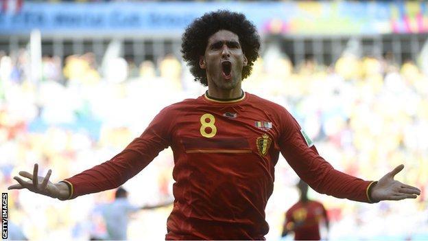 Marouane Fellaini has won 63 caps for Belgium and scored 14 goals