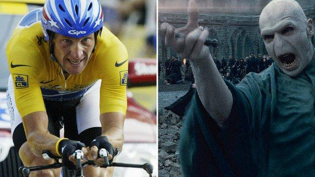 Lance Armstrong (left) Voldemort
