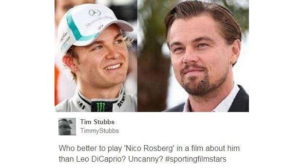 Nico Rosberg and Leonardo DiCaprio
