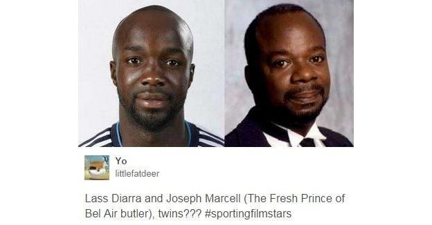 Lassana Diarra and Joseph Marcell