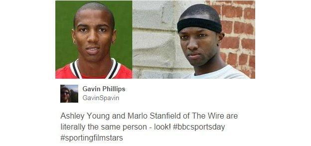 Ashley Young and Mario Stanfield from the wire