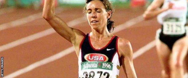 Mary Slaney at the 1996 Atlanta Olympics