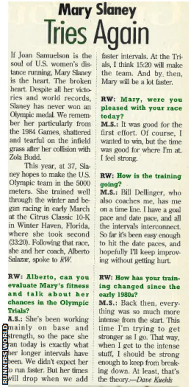 Runners World, July 1996