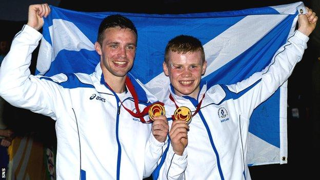 Commonwealth Games gold medal winners Josh Taylor and Charlie Flynn