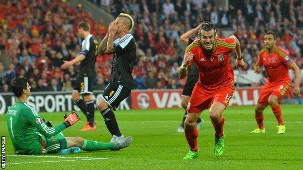 Gareth Bale scored his 17th goal in 50 international appearances