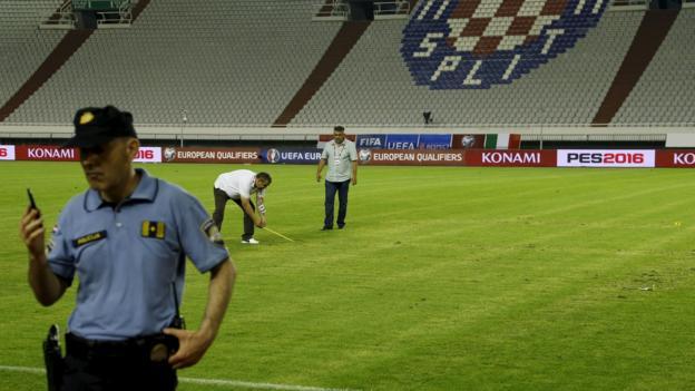 Croatia Swastika Hosts Apologise For Nazi Pitch Symbol Bbc Sport