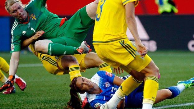 Sweden goalkeeper Hedvig Lindahl