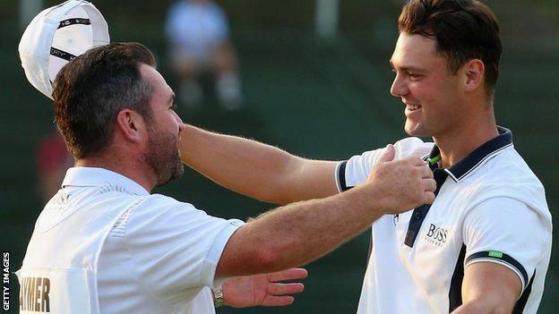 Martin Kaymer celebrates winning the 2014 US Open