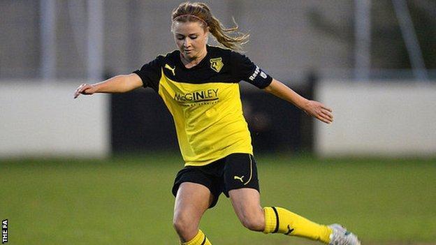 Striker Sarah Wiltshire