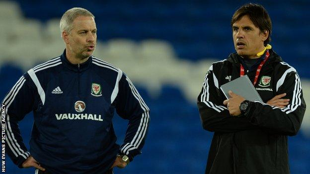 Kit Symons (left) with Chris Coleman (right)
