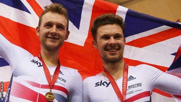 Owain Doull (right) and Mark Christian (left)