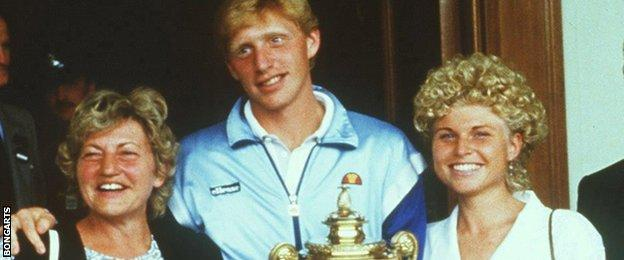 Boris Becker and his family in 1985