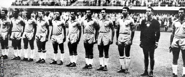 Brazil's 1958 World Cup final team