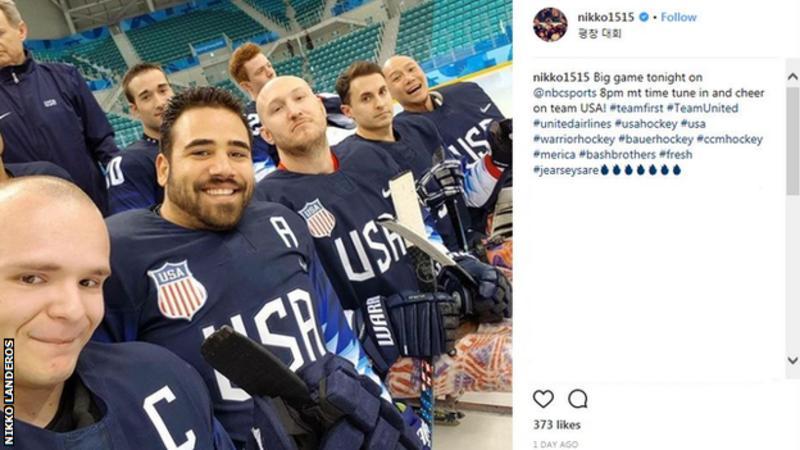 Pyeongchang: Winter Paralympics - Nikko Landeros And Tyler Carron Aim For Para-ice Hockey Final