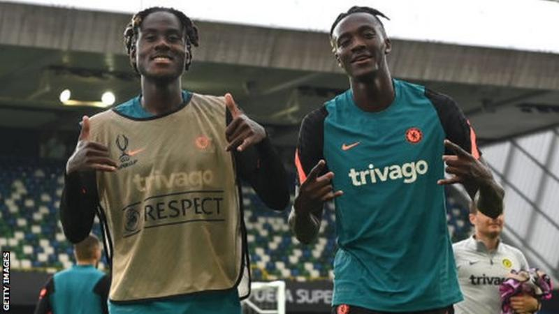Chelsea players Trevor Chalobah and Tammy Abraham trained with their team-mates at Windsor Park on Tuesday
