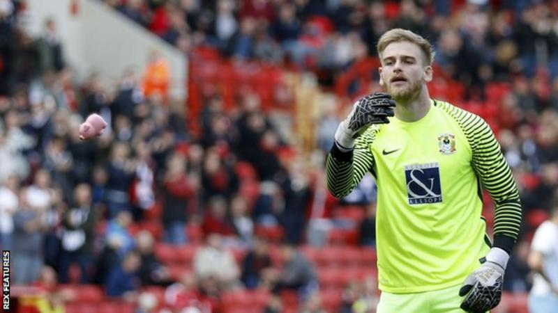 Charlton v Coventry stopped after plastic pigs thrown on pitch