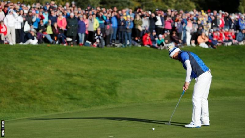 Pettersen sends her Solheim Cup-winning putt on its way
