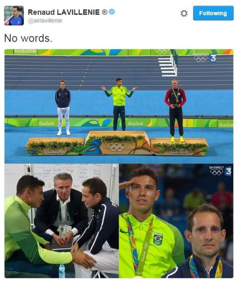 Rio Olympics 2016: Renaud Lavillenie being booed 'shocking' - Thomas Bach