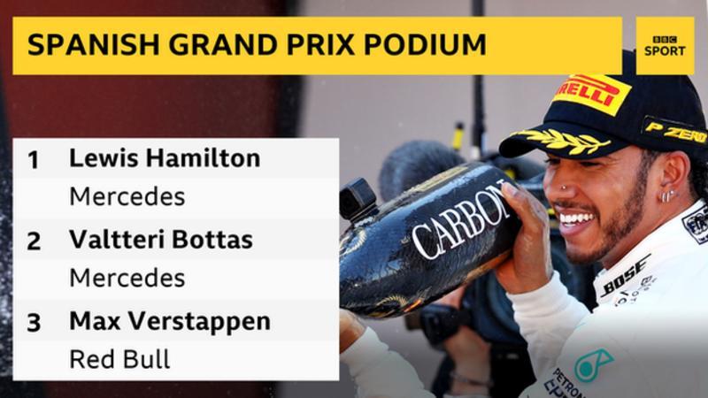 Hamilton vence companheiro de equipe e vence GP da Espanha