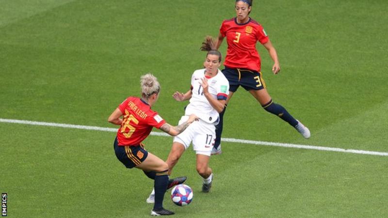 Women's World Cup 2019: Megan Rapinoe scores twice as USA struggle past Spain
