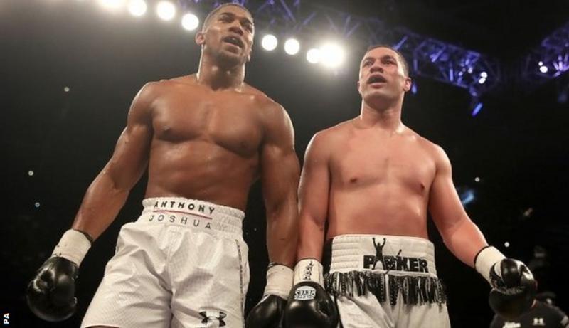 Anthony Joshua beats Joseph Parker on points to add WBO world heavyweight title