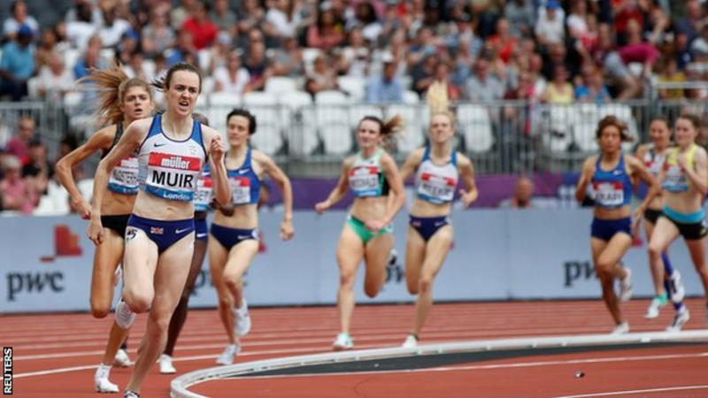 Anniversary Games: Laura Muir cruises to 1500m victory at London Stadium