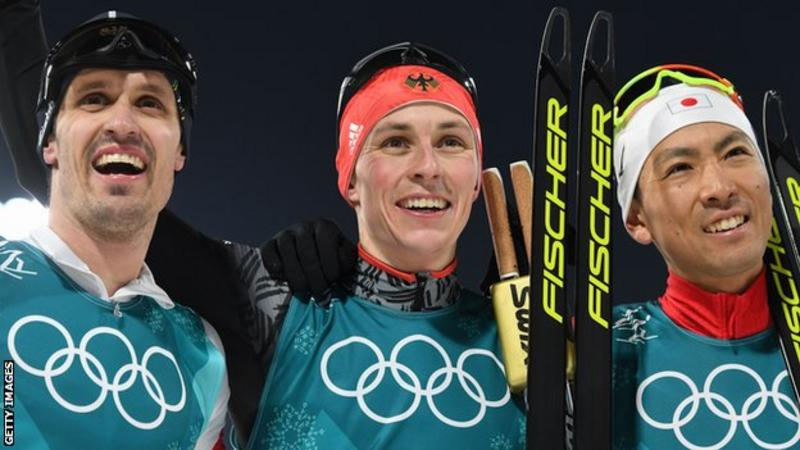 Frenzel claims Germany's 6th gold in men's Nordic combined