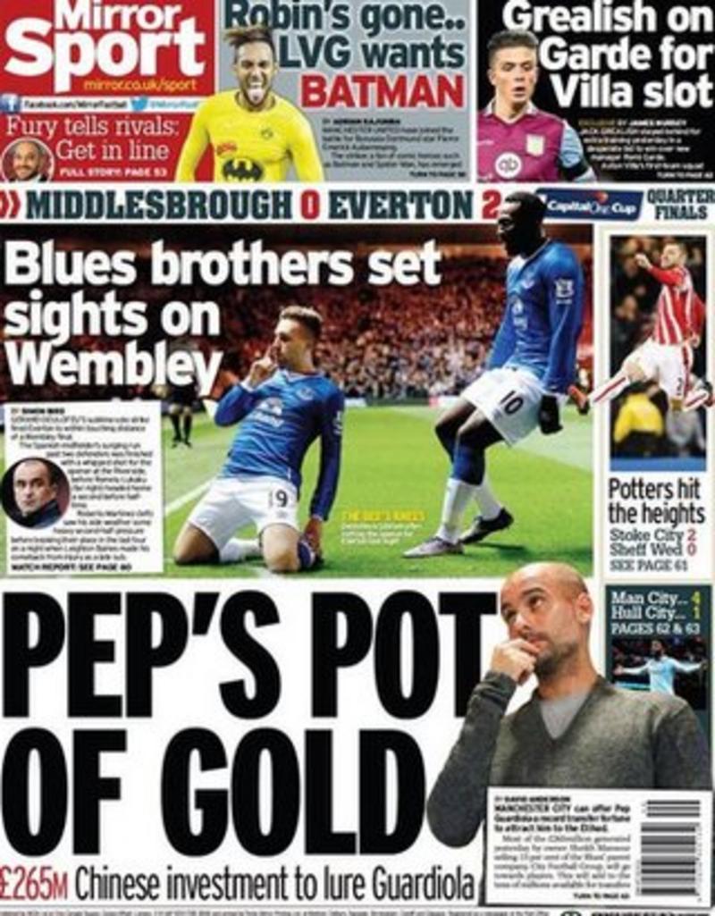 Gossip column: Guardiola, Costa, Neville, Messi, Robben